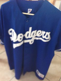 Vintage Authentic Sewn Los Angeles Dodgers Jersey Size Large Russell Stitched LA in | eBay