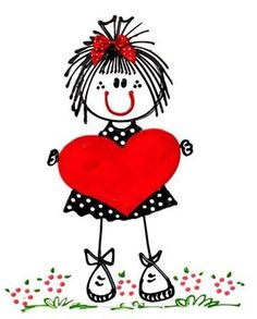 ADVERTISEMENT 10 Videos About Valentines Day Drawings that Will Make You Laugh The top are some things that differs from person to person. Doodle Art, Heart Doodle, Diy And Crafts, Arts And Crafts, Stick Figures, Stone Art, Be My Valentine, Rock Art, Painted Rocks