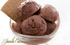 Inghetata de ciocolata Sorbet, Parfait, Mousse, Tiramisu, Food And Drink, Ice Cream, Pudding, Favorite Recipes, Sweets