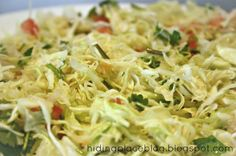 Costa Rican Recipes ~  Lime Cabbage Salad.  I like cabbage and I have limes...