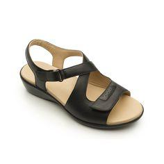 Sandalia soft recio ancho - Flexi México