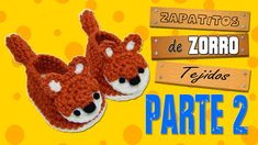 zapatitos de zorro tejidos a crochet   parte 2/2
