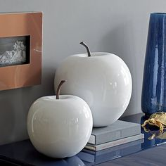 2-piece white snow apple set | CB2