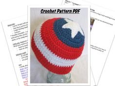 98 Best Crochet Captain America images in 2019  8e340625845