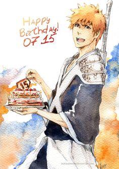 BLEACH: Happy Birthday, Ichigo! by Sideburn004.deviantart.com on @deviantART