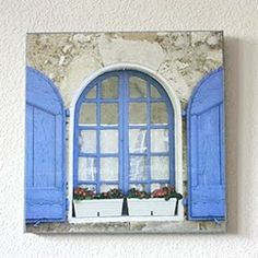 Tutorial on how to make wall art with Mod Podge and a picture from a calendar