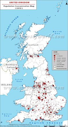 Outline map of united kingdom work pinterest outlines uk population map shows the most populated cities of the country with concentration of sciox Gallery