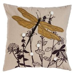 Found it at Wayfair - Spencer Nature's Bounty Dragonfly Indoor/Outdoor Throw Pillow