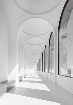 There is something so entrancing about the archways in this project featured by the Neue Galerie in Kassel by German Architect Volker Staab of Staab Architekten Photo © Werner Huthmacher via . Architecture Design, Amazing Architecture, Arch Building, Building Ideas, Interior And Exterior, Interior Design, Home Design, Interior Ideas, Modern Interior