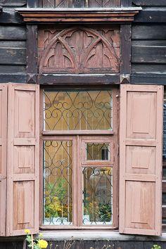 Carved Wooden Casing Of Krasnoyarsk, Ru