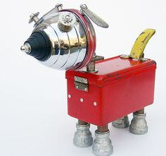 recycled robot dog