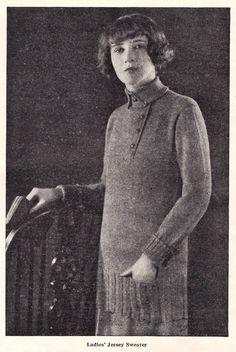 Vintage Knit Women's Sweater Pattern 1920's Downton Abbey Flapper