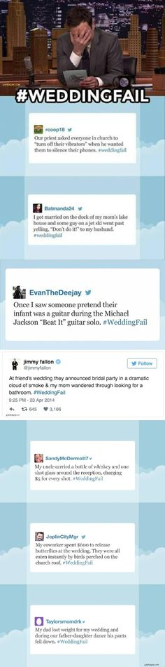 Top 8 Hilarious Tweets About #WeddingFail By Jimmy Fallon