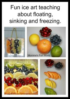 Momma's Fun World: Kids ice art science-link to handas surprise