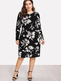 SHEIN Plus Flower Print Form Fitting Dress #fashion #fashionista #clothes #dress #shein ,women's plus size clothing including dresses, tops, bottoms, and lingerie. plus size clothing plus size dresses plus size fashion plus size clothes affordable plus size clothing trendy plus size clothing urban plus size clothing cute trendy plus size clothes plus size plus size womens clothing trendy plus size clothing plus size clothing stores plus size maxi dresses plus size stores cheap plus size…