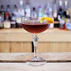 Martinez Cocktail Recip  Sweet vermouth, Old Tom gin & Luxardo maraschino liqueur