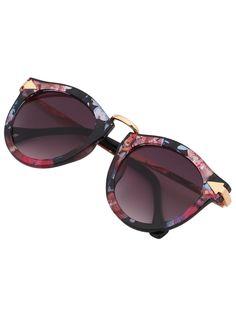 Multi-color Plastic Frame Metal Arms SunglassesFor Women-romwe