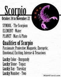 Scorpio horoscope lucky color iruna