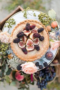 36 Wedding Cake Alternatives To Save Cash ❤ wedding cake alternatives fruit pie on a dish decorated with flowers lundy photography via instagram #weddingforward #wedding #bride