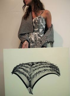 Pen on canvas by Vandor & pattern play on Vandor. / Fashion Monday by Art Interiors / Toronto Art Gallery