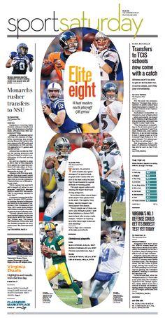 Elite 8 #GraphicDesign #Layout Sports, Jan. 10, 2015.