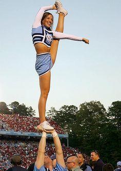 North Carolina Legs  CHEER  stunt bow and arrow cheerleading cheerleader from Kythoni's Cheerleading: Stunts board http://pinterest.com/kythoni/cheerleading-stunts-bow-arrow-heel-stretch-scorpio/ #KyFun