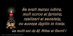 La multi ani de Sfintii Mihail si Gavril!