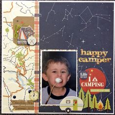 Happy Camper   Simple Stories - Scrapbook.com - Made with Simple Stories Happy Camper line - perfect for roasting marshmallow photos!