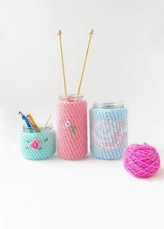 Die 60 Besten Bilder Von Gläser Umhäkeln Crochet Patterns Yarns