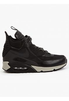 Men's Black Air Max 90 Sneakerboot Winter Sneakers #NIKE
