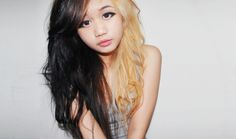 Half Blonde Half Black.  The hairstyle for those who want to wear their bipolar on the outside.