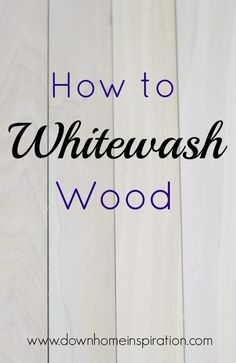 Whitewashing wood is a super simple way to create a fun look for your wood project. And it is so much easier than you might have thought. wood projects projects diy projects for beginners projects ideas projects plans