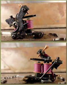 tattoo machines : SOBA Chopped Phantom 4 Brazed Liner One-Off