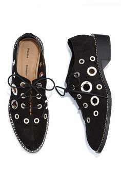 Borrowed from the boys. Shop the latest menswear trend featuring #ProenzaSchouler #10022Shoe
