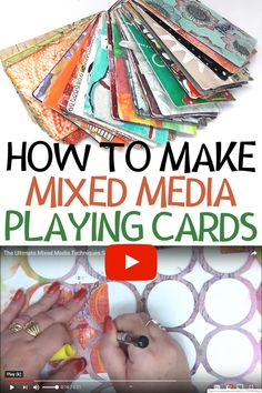 How to alter playing cards with more than 40 different mixed media techniques and ideas #einatkessler #crafts #DIY #playingcards #alter Craft Projects For Adults, Arts And Crafts For Adults, Creative Arts And Crafts, Craft Ideas, Mixed Media Techniques, Art Journal Techniques, Art Journal Inspiration, Journal Ideas, Creative Journal