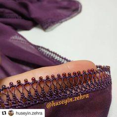 #Repost @huseyin.zehra (@get_repost) ・・・ Selamünaleyküm sevgili arkadaşlar bu güzel boncuk oyalarımda bitti cok şükür sevgili kız kardeşim… Embroidery Art, Embroidery Designs, Moda Emo, Crochet Lace Edging, Needle Lace, Chrochet, Scarf Styles, Crochet Decoration, Simple Makeup