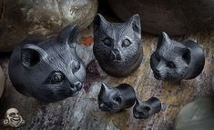 Arang wood kitty plugs --- if I had plugs I would rock these kitties.