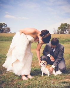 Bride and Groom get a special visit from their pup! © Sparrow Heart Photography / Morgan Bohart, Pittsburgh PA