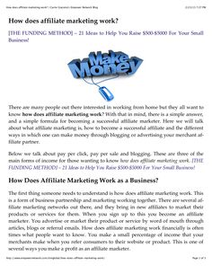 by Carrie Giaconia via Slideshare Document Sharing, Carrie, Affiliate Marketing, How To Make Money