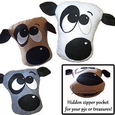 Pajama Pups: Hidden zipper pocket for kids' pjs and snuggle essentials...