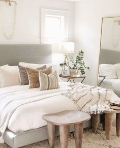 Personalize your home decoration with pretty digital printables. Master Bedroom Design, Home Decor Bedroom, Modern Bedroom, Fall Bedroom, Bedroom Wall, Bedroom Ideas, Aesthetic Bedroom, Home And Deco, Beautiful Bedrooms