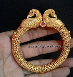 Jewellery Designs: Antique Style One Gram Gold Kankanalu:
