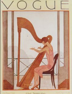 Vogue (August 1926). André Édouard Marty or A. É. Marty (French, Art Deco, 1882-1974). Marty studied at the École des Beaux-Arts and Atelie...