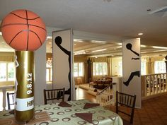 basketball sports themed centerpiece Belmont Hill CC   Flickr - Photo Sharing!