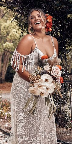 Wedding Dress Lace grace loves lace 2019 bridal cold shoulder straps sweetheart fully embellished lace sheath trumpet wedding dress chapel train boho romantic plus size mv -- Grace Loves Lace 2019 Wedding Dresses Western Wedding Dresses, Boho Wedding Dress, Lace Wedding, Wedding Peach, Dresses Uk, Bridal Dresses, Wrap Dresses, Casual Dresses, Plus Size Wedding Gowns