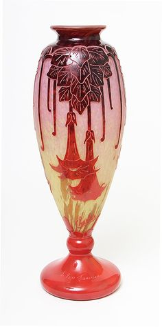 FRENCH GLASS, Le Verre Français, <em>Daturas</em> vase