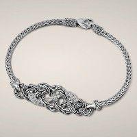 John Hardy Classic Chain Diamond Station Bracelet | JR Dunn Jewelers