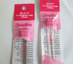 Sewline Fabric Pencil REFILLS Black lead White lead Fabric Marking Pencil Lead in Crafts | eBay