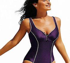 9d30080d48 Women S Plus Size Built-In Cup One Piece Deep-V Swimsuit Bathing Suits  Bikini