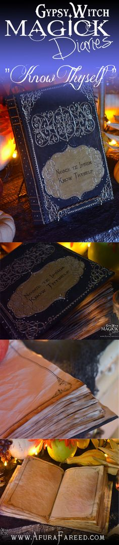 """Know Thyself"" #handmade #book of #shadows #diary #journal"